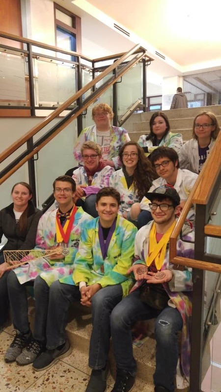 students from state science olympiad